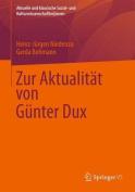 Zur Aktualitat Von Gunter Dux  [GER]