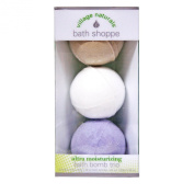 Village Naturals Bath Shoppe Bath Bomb Trio (Lavender, Vanilla & White Tea) 160ml