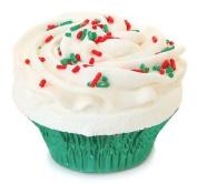 Fizzy Baker Christmas Cupcake Bath Bomb - Green