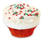 Fizzy Baker Christmas Cupcake Bath Bomb - Red