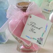 Scented Bath Salts In Heart Glass Bottle