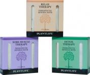 Therapeutic Mineral Bath Salt Trio Sampler Set- 3 pack- 90ml each