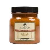 Seven Palms Citrus Sweet Amber Bath Salt - 590ml
