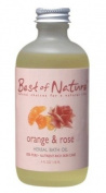 Orange & Rose Bath Oil - 120ml - 100% Pure