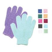 Bathing Gloves Textured White