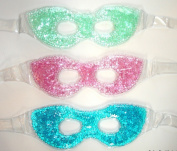 Hot / Cold Therapeutic Bead Pearl Gel Eye Masks (Pack of 3) Assorted Colours