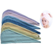 April Bath & Shower Microfiber Hair Wrap - Light Pink