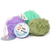 Bath Net Sponge w/hang loop Purple