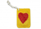 Natural Loofah Multi-Purpose Scrubber - Heart Card