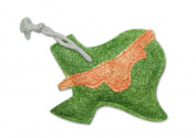 Natural Loofah Multi-Purpose Scrubber - Texas Map w/Longhorn