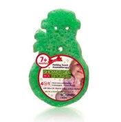 Spongeables Shower Gel in a Sponge (Green Snowman) 7+ Uses Holiday Scent Aromatherapy
