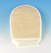 Loofah Mitt with Terry Cloth Backing & Bungie Collar