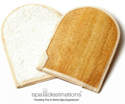 "Natural Loofah Bath Mitt (2 pack) by Spa Destinations ""Creating The In Home Spa Experience"""
