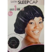 [Magic Collection] 53.3cm Extra Large Elastic Band Satin Sleeping Cap - Black