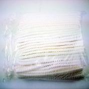 Huini Disposable Bouffant Caps, White,disposable Crinkled Mob,100pcs Disposable Impact Non-woven Bouffant Caps Bundle - White