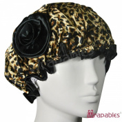 Kella Milla Stylish Satin Shower Cap - Brown Leopard