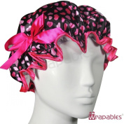 Kella Milla Stylish Satin Shower Cap - Hearts & Rose