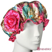 Kella Milla Stylish Satin Shower Cap - Vibrant Leaves