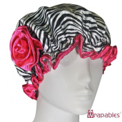 Kella Milla Stylish Satin Shower Cap - Zebra