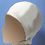Sun Vogue Swim Cap with Strap Moulded White