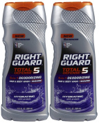 Right Guard Hydrating Total Defense 5 Deodorizing Hair and Body Wash 13.5-oz.