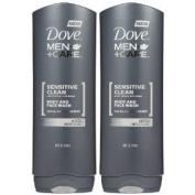 Dove Men + Care Body and Face Wash, Sensitive Skin, 530ml