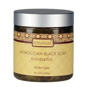 ELMA & SANA® Moroccan Black Soap eucalyptus-9oz