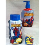 Spider-Man Soap & Body Wash Gift Set with Magic-Towel Spidey Wash Cloth - 3 piece set