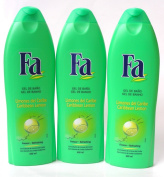 3 Bottles of Fa Shower Gel Caribbean Lime 20 oz./600ml