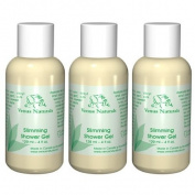 Venus Body Slimming Shower Gel with Pure Marine Algae Serum, 3 - 120ml Bottles