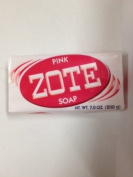 Zote Laundry Soap Bar - Stain Remover - Catfish Bait - Pink 3 Bars-210ml (200g) Each