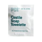 Castile soap towelette, ph balanced w/2% coconut oil soap, 6 per ziplock bag