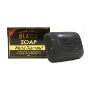Original African Black Soap w/ Shea Butter & Cocoa Butter, White Diamond 150ml