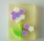 Purple Flower Large Glycerin Soap