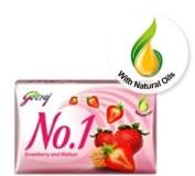 Godrej No. 1 Stawberry and Walnut Soap 115gram