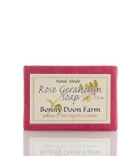 Rose Geranium Soap Bar 45ml by Bonny Doon Farm