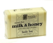 River Soap Company Simple Wrap Bar Soap, Milk & Honey Complexion Bar, 130mls, Large