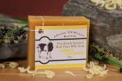 Handmade 100% Raw Goat Milk Lemon Cornmeal Soap