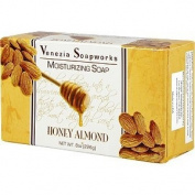 2 Bar Set Venezia Soapworks Moisturising Soap Honey Almond - 210mls each