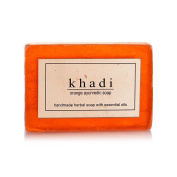 KHADI - Handmade Herbal Soap Orange Ayurvedic - 125g