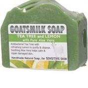 Goats Milk Soap Tea Tree and Lemon with Pure Aloe Vera 140g