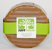 JustNeem All Natural Neem Soap 120g bar - Coconut