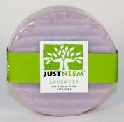 JustNeem All Natural Neem Soap 120g bar - Lavender