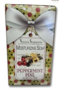Christmas Holiday Moisturising Soap Peppermint Pine - 210mls