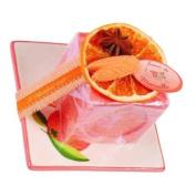 Orange Cinnamon Cube Soap 100 grs + Ceramic Soap Holder