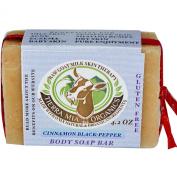 Tierra Mia Organics, Raw Goat Milk Skin Therapy, Body Soap Bar, Cinnamon Black-Pepper, 120ml