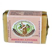 Tierra Mia Organics, Raw Goat Milk Skin Therapy, Body Soap Bar, Rosemary Lavender, 120ml