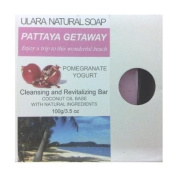 Natural Pomegranate Soap - Ulara Pattaya Getaway - 100g/100ml - Made with Pure Coconut Oil