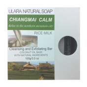 Natural Rice Milk Soap - Ulara Chiangmai Calm - 100g/100ml - Made with Pure Coconut Oil