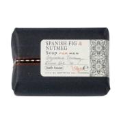 Spanish Fig and Nutmeg Wash Bar 150g soap bar by Bath House